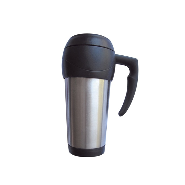 COD.TT014 Jarro Térmico Metal y plástico. Contenido: 500 ml. Con mango e interior plástico.
