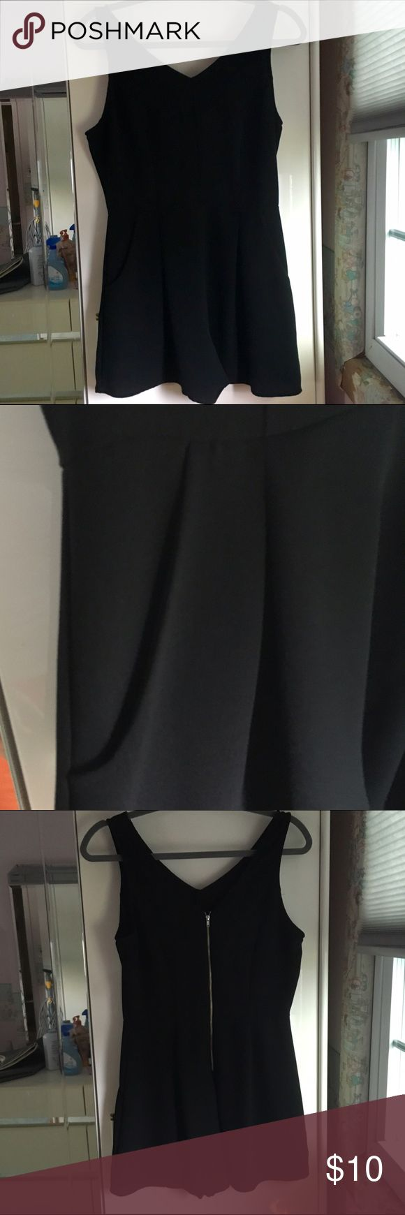 🆕Black zip up romper from TJ Maxx Bought this black romper from TJMaxx last summer. I wore once for maybe 3 hours and never wore it again. It is in great condition like it was never worn. It does have front pockets and zips up in the back. TJMAxx Other