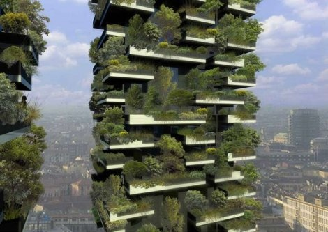The first vertical noise in the world grows in a skyscraper in Milan.