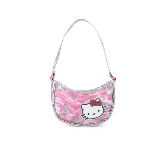 Hello Kitty Kids Mini Handbag: Pink Camo