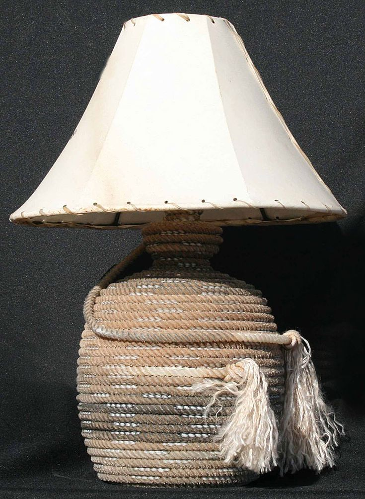 rope lamps, lariot lamps, cowhide shades by Jus Rope'n Kreations
