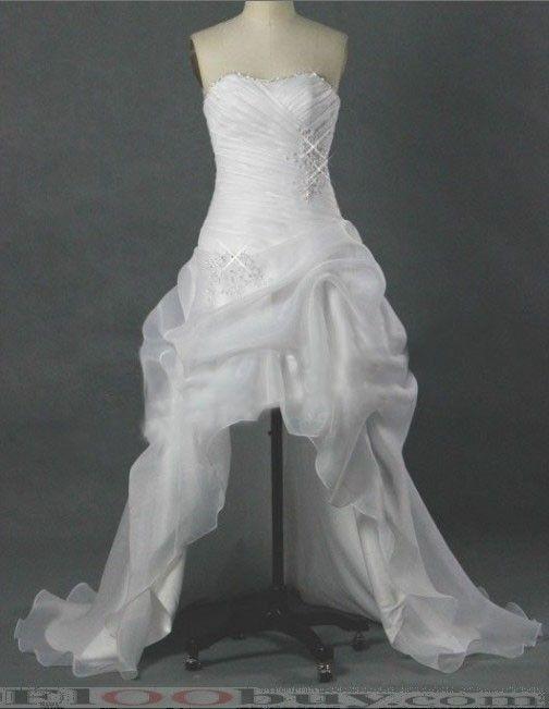 Short wedding dresses with train wedding dress for Short wedding dress with long train
