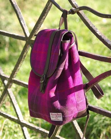 **COMING SOON** our fabulous #HarrisTweed #rucksacks with quality leather trim brackenonline.com