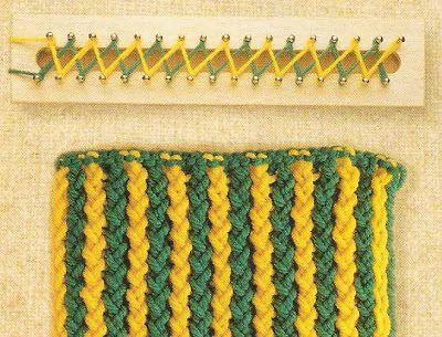 Crear con hilos...: Puntos para telar azteca y Swap