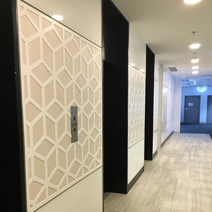 Sanskrit Screen Amicus Corporate Fitout Lift Lobby - Baresque