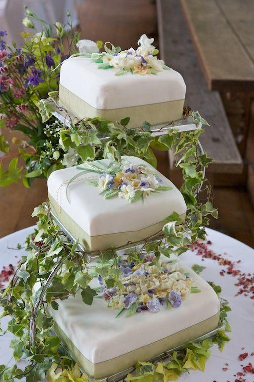 Wedding cake, Dartington Hall, Devon