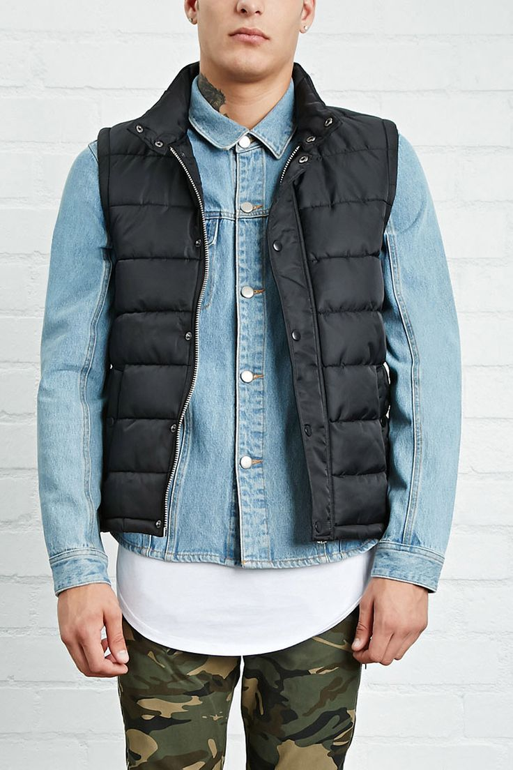 Nylon Puffer Vest - Men - Features - 2000206330 - Forever 21 EU English