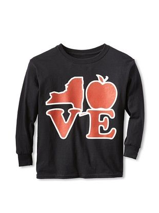 67% OFF Little Dilascia Kid's NY State Love Long Sleeve Tee (Black)