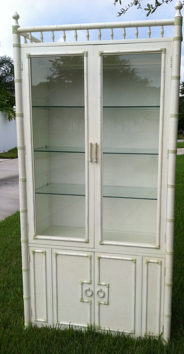 Bamboo china cabinet white lsf home design pinterest for Lsf home designs furniture