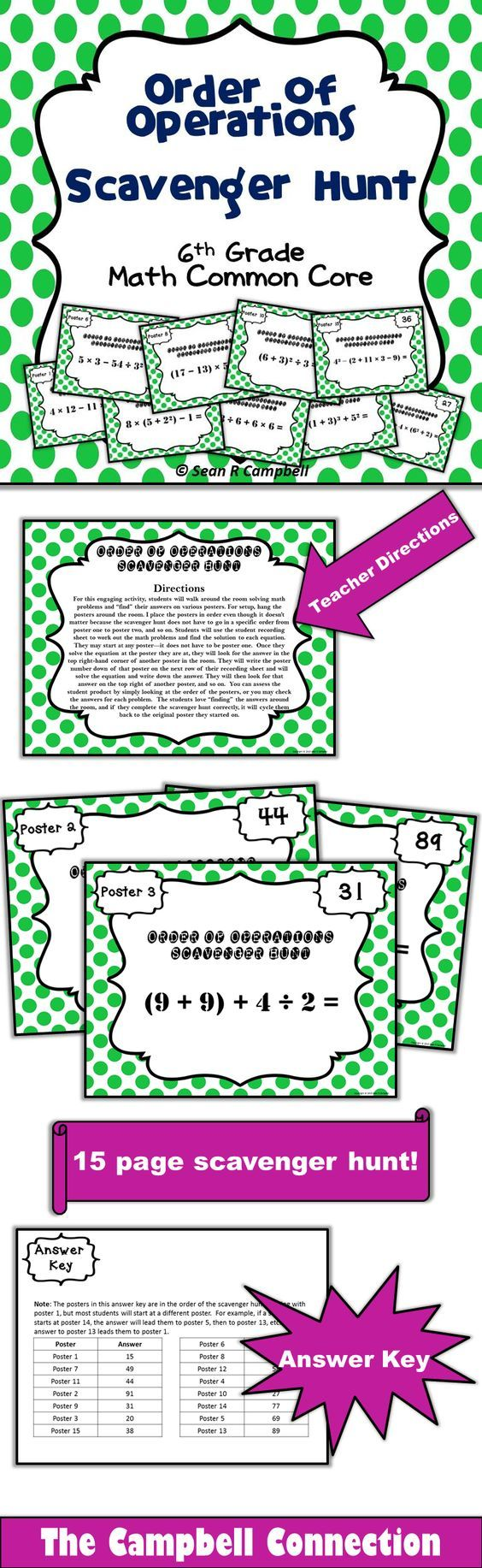 24 best order of operations images on Pinterest | High school maths ...