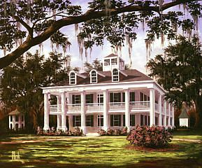 Is there anything more beautiful than an old Southern plantation home with over-arching oak trees lining the drive and sweet azaleas and dogwoods in bloom? *sigh* {Houmas House Antebellum Plantation Home}