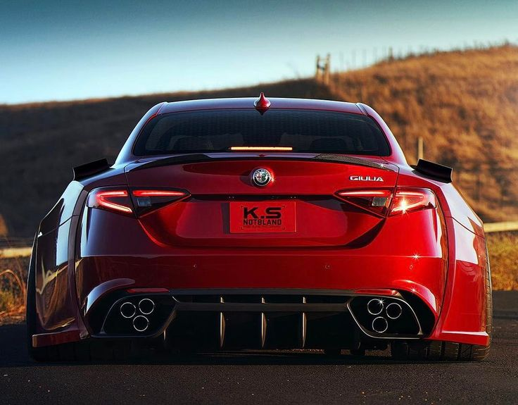 What an Alfa Romeo Giulia Quadrifoglio looks like after eating another Giulia Rendering by @the_kyza