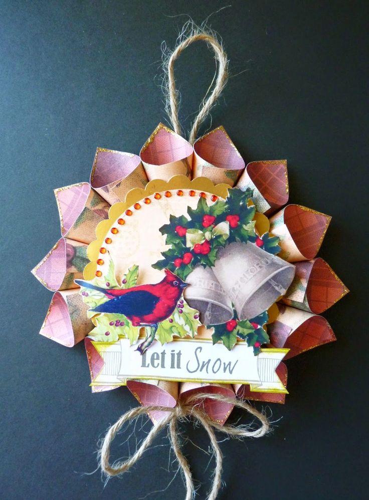 Christmas Tag/Ornament using Vintage Christmas Cd