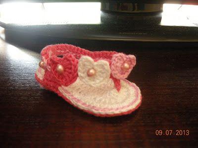 Creazioni Rita C. ... Only Handmade!: Infradito Baby a Uncinetto (3-6 mesi) con Foto-Tutorial