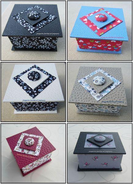 série mini boîtes bouchons