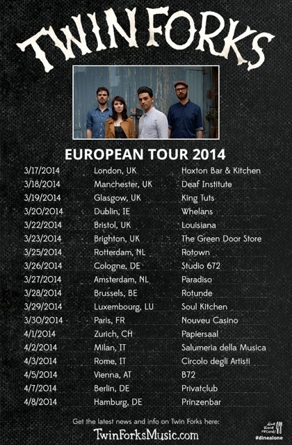 Catch Twin Forks on their 2014 European Tour!