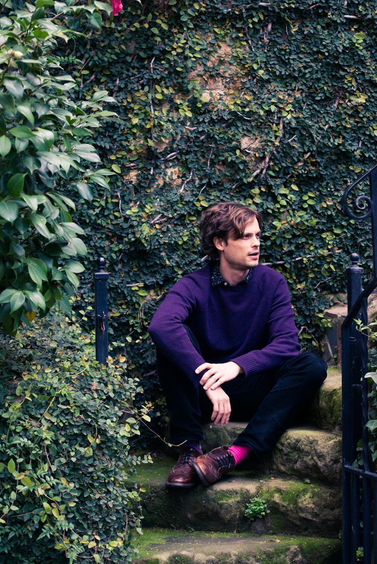 Matthew Gray Gubler at His Home in Pasadena, California