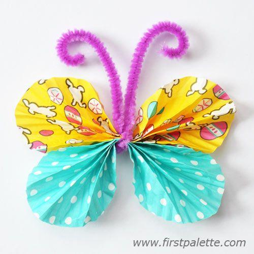 Step 12 Cupcake Liner Butterflies craft