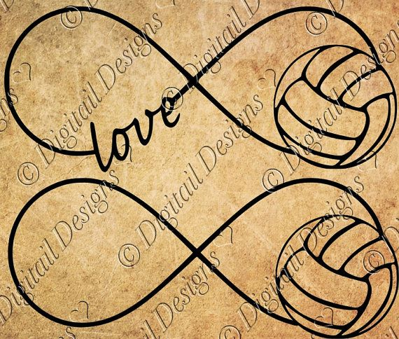 Volleyball Infinity SVG Volleyball Love png dxf by DigitailDesigns