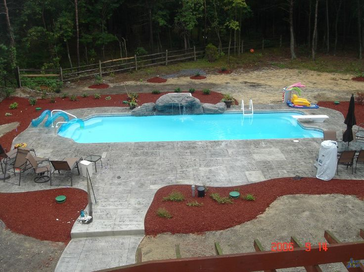 Get This Dallas San Juan Fiberglass In Ground Pool At Backyard Masters Long Island New York