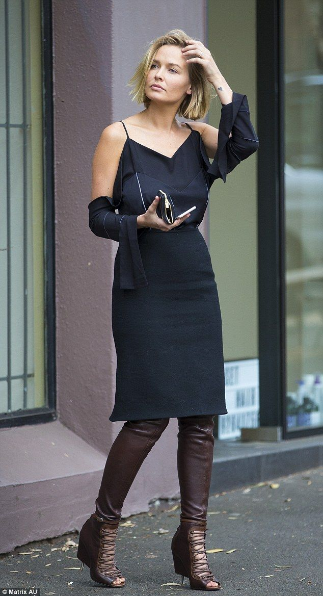 Stepping out in style: Lara Bingle put on a typically stylish display while out and about ...