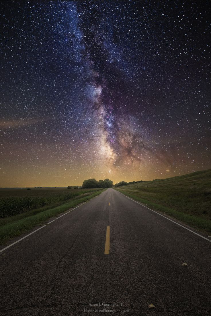The center of our Galaxy lights the way on this road trip. Taken in rural South Dakota. HomeGroenPhotography.com
