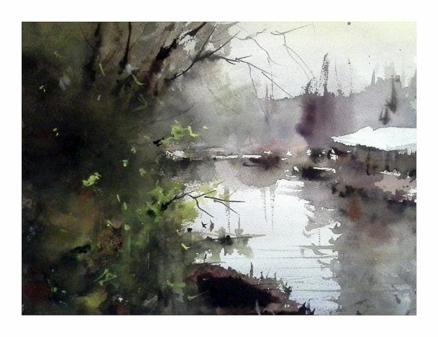 Watercolor by Orhan Gürel