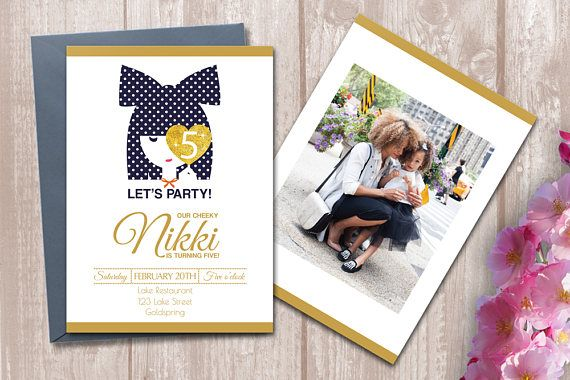 Cheeky Birthday Party Invitation for Girls - Digital Printable