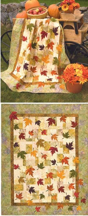 Daughter needs to make this for her mother. FALLING LEAVES QUILT PATTERN