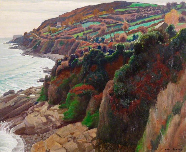Penlee Point, 1926-27 by Ernest procter (English 1886-1935)