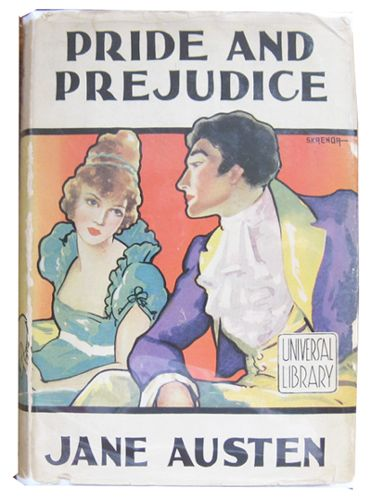 Pride and Prejudice by Jane Austen, Universal Library, 1920s-1930s. Cover illustrated by Skrenda.