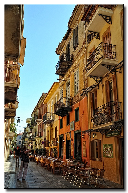 Lovely, Venetian Nafplion, Greece, filled with small, beautiful, twisty alleys (at least in the old bit).