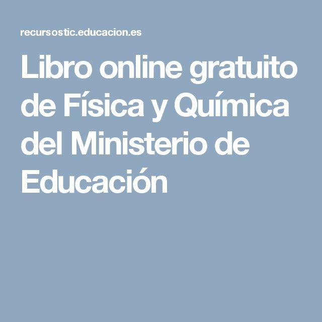 Libro  online gratuito de Física y Química del Ministerio de Educación