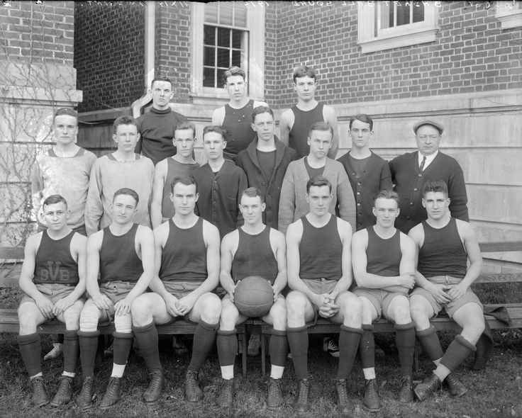 Photograph:  University of Virginia Basketball Team from Negatives from the Charlottesville photographic studio plus an index volume · Holsinger's Studio (Charlottesville, Va.)  1890-1938 · Albert and Shirley Small Special Collections Library, University of Virginia.