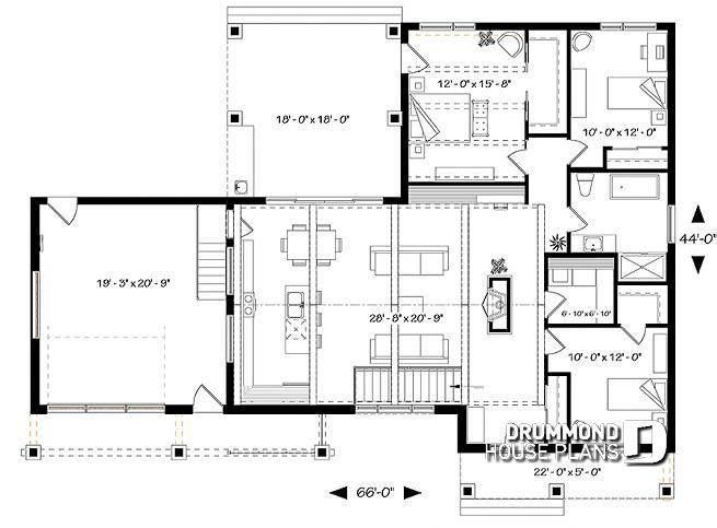 Discover The Plan 3992 V2 Olympe 3 Which Will Please You For Its 3 Bedrooms And For Its Craftsman Northwest Styles House Plans Cape House Plans Modern Style House Plans
