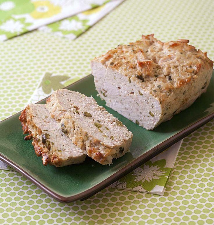Photo de la recette : Terrine de dinde aux pistaches