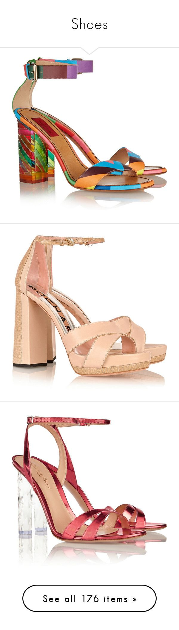 """""""Shoes"""" by bliznec ❤ liked on Polyvore featuring shoes, sandals, heels, high heels, valentino, high heel shoes, ankle strap heel sandals, block heel shoes, ankle wrap sandals and valentino sandals"""