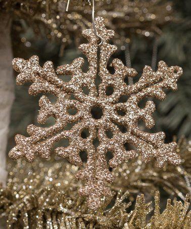 Champagne Snowflake Ornament - Set of Six #zulily #zulilyfinds
