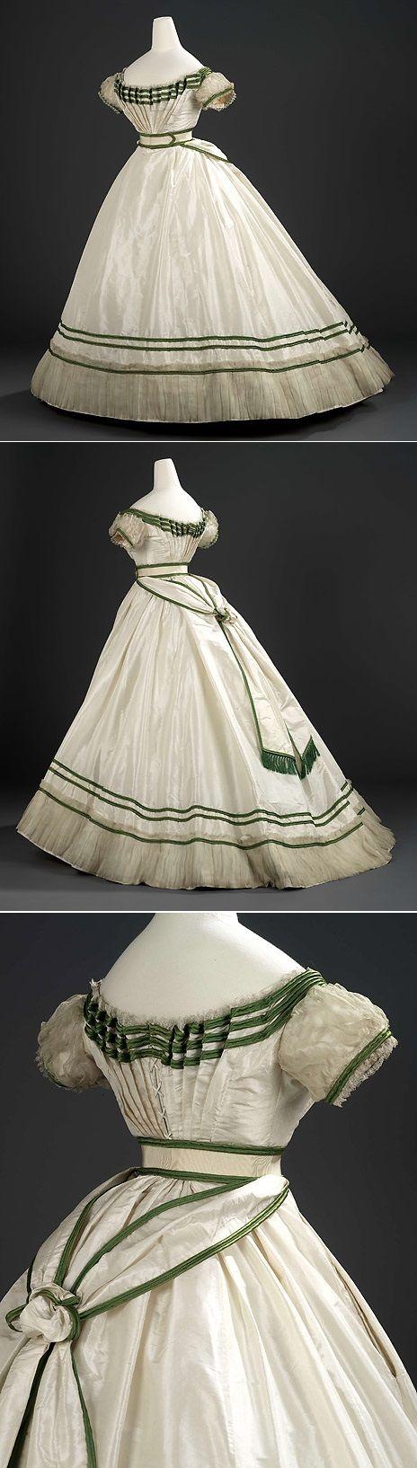 Evening dress, Worth, 1867