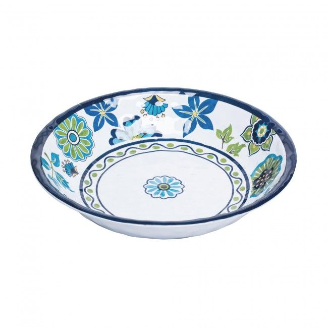 KSP Madrid Patioware Salad Bowl (Blue/Green)