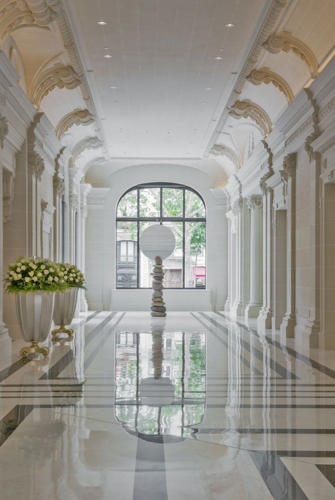 The Peninsula Hotel, Paris designed by Henry Leung of Chhada Siembieda Leung and Richard Martinet of Affine architecture & interior design #RePin by AT Social Media Marketing - Pinterest Marketing Specialists ATSocialMedia.co.uk