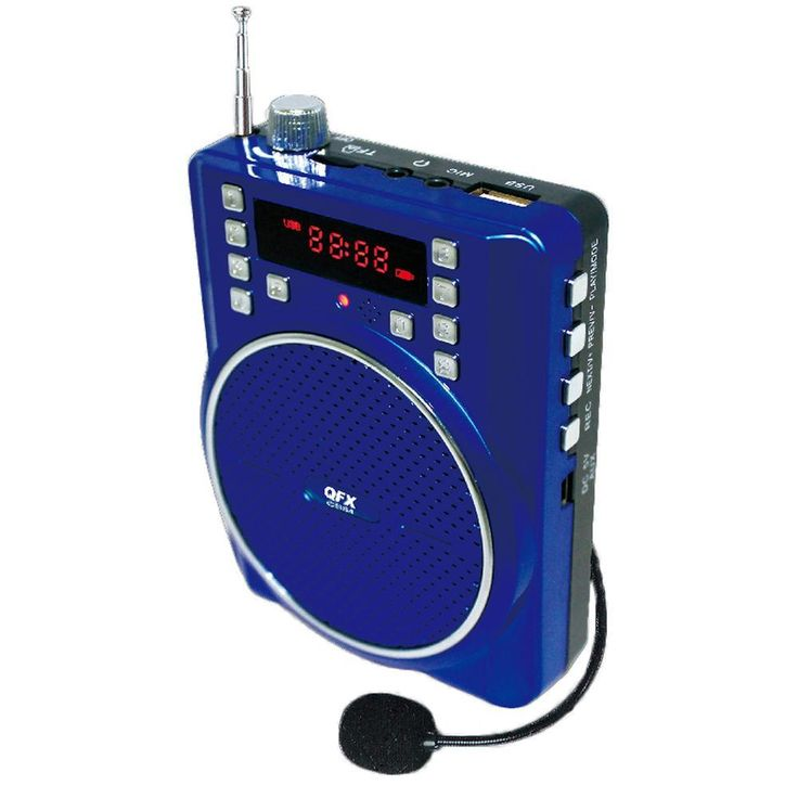 QFX Portable Battery Powered PA Speaker- Blue