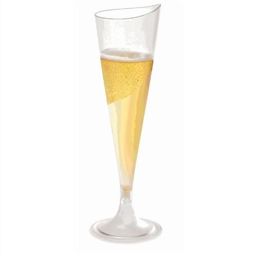 4 oz HEAVY Plastic Champagne Flutes by Smartyhadaparty.com