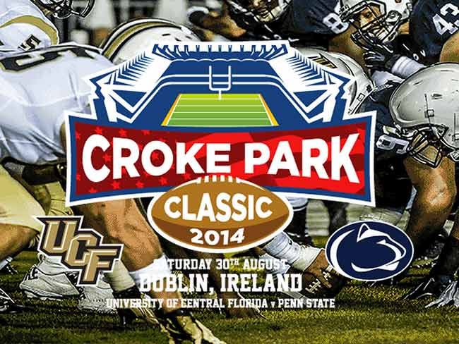 Croke Park Classic American college football game returns to Ireland this June! (click into photo for more info) #crokeparkclassic #dublin #ireland #american #football #crokepark #pennstate #ucf #lions #knights