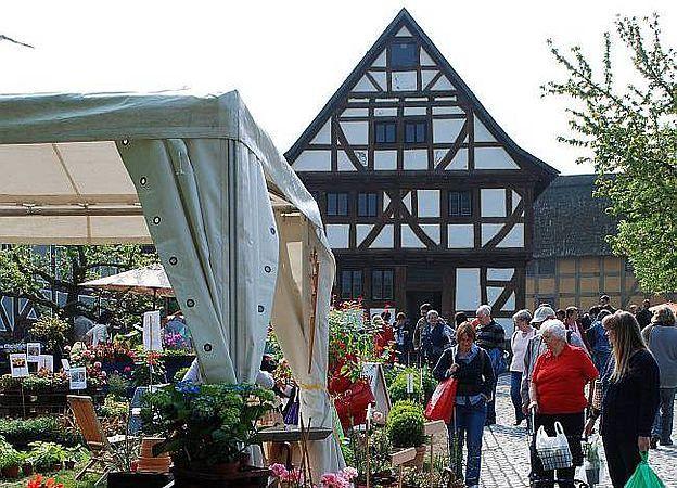 Pflanzenmarkt im Freilichtmuseum Hessenpark, D-61267 Neu-Anspach im Hochtaunuskreis, Hessen, 30.04.-01.05.2016