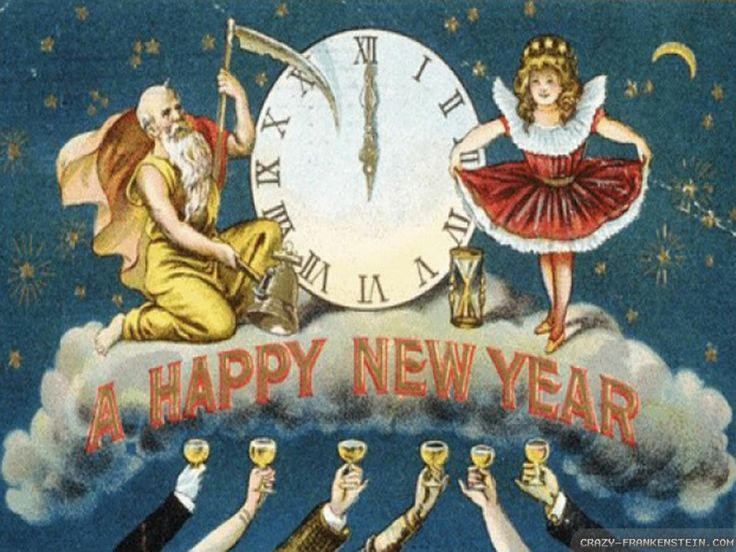 17 Best images about Vintage Happy New Year on Pinterest ...