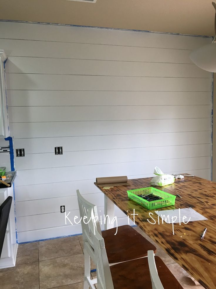 Keeping it Simple: How to Build a Shiplap Wall for $75