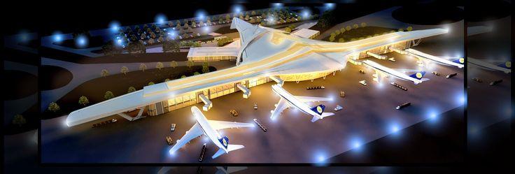 Modern International AIrport - Architecture portfolio | archviz