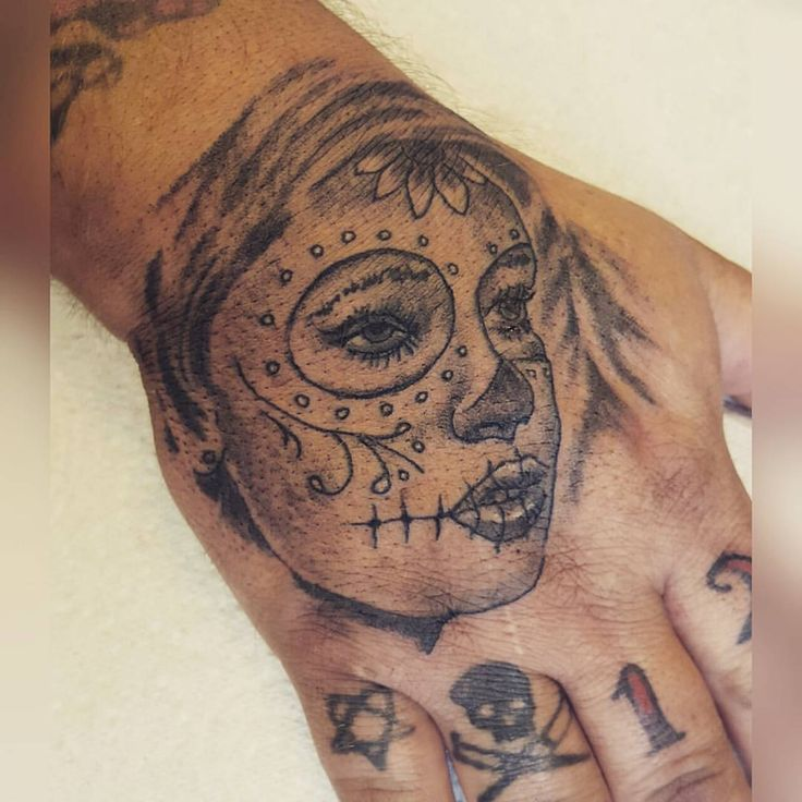 Day Of The Dead Hand Tattoo: Day Of The Dead Hand Tattoo. (With Images)