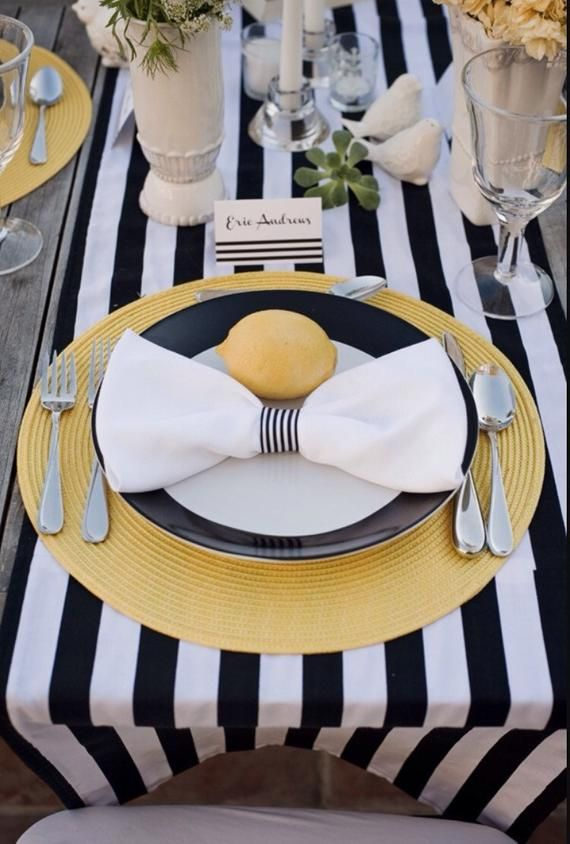 Black And White Striped Tablecloth Table Runner Cotton Stripped Wedding Tablecloth Nautical Navy Blue And White Beach Wedding Decor Black And White Tablecloth White Table Cloth Striped Table